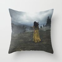 Escape to the Hills  Throw Pillow