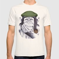Wise Mr. Chimp Mens Fitted Tee Natural SMALL