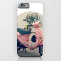iPhone & iPod Case featuring Pink Scooter by helene smith photography