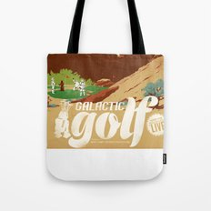 Galactic Golf - Retro travel poster Tote Bag