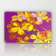 Laptop & iPad Skin featuring Yellow Flowers by Vitta