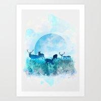 twilight Art Prints featuring Twilight by Lynette Sherrard Illustration and Design