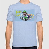 Kart Fink Lil Bro! Mens Fitted Tee Tri-Blue SMALL