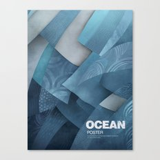 Ocean poster Canvas Print