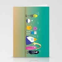 Adventure time characters Stationery Cards