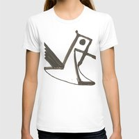 Had of the Eagle Womens Fitted Tee White SMALL