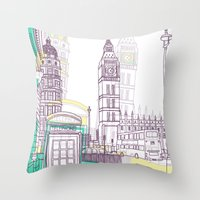 Lovely London Throw Pillow