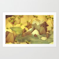 Lake Cavern Art Print