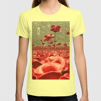 Tower Of London Remember… Womens Fitted Tee Lemon SMALL
