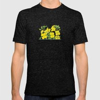 Summer flower in yellow Mens Fitted Tee Tri-Black SMALL