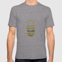 Yellow Polka Dot Bikini Mens Fitted Tee Athletic Grey SMALL