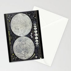 The Earth's Moon Map Stationery Cards