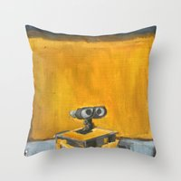 Wall-E and Rothko Throw Pillow