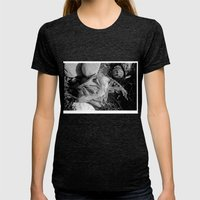 Fish head Womens Fitted Tee Tri-Black SMALL