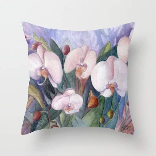 Orchid Fantasy Throw Pillow