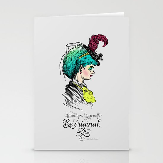 Be original. Stationery Card