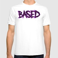 BASED Mens Fitted Tee White SMALL