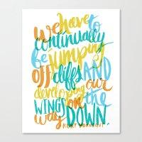 ...JUMPING OFF CLIFFS Canvas Print