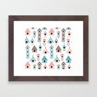 Birdhouses Framed Art Print