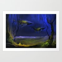 In The Light You Follow Me Art Print