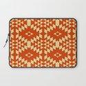 Aztec Inspired Pattern Yellow & Orange Laptop Sleeve