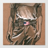 Border Patrol Canvas Print