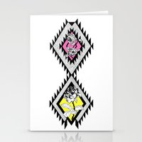 Neon Rose Stationery Cards