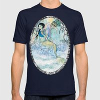 Pale Siren Mens Fitted Tee Navy SMALL