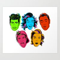 one direction Art Prints featuring One Direction by GirlApe