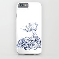 Folk Floral Indigo Deer iPhone 6 Slim Case