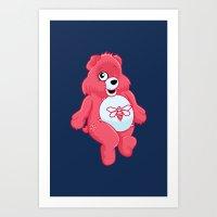 breaking bear. Art Print