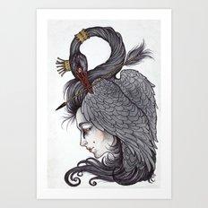 Swan Song art print Art Print