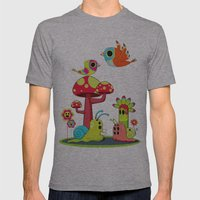 Critter Romance Mens Fitted Tee Athletic Grey SMALL