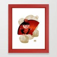 Papas y flamenco Framed Art Print
