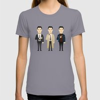 Watching The Detectives … Womens Fitted Tee Slate SMALL