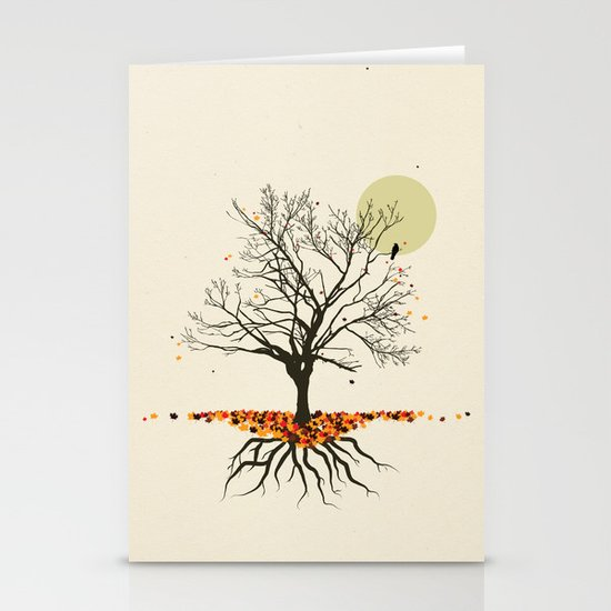 the Fall Stationery Card