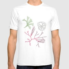 Seaweed and Lotus Root SMALL White Mens Fitted Tee