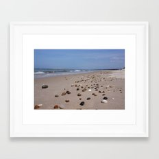 Shiney Stoney Beach - Nairn Scotland - Stones Framed Art Print
