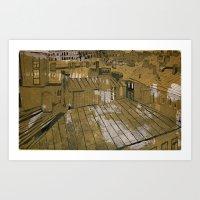 St. Petersburg Roofs Art Print