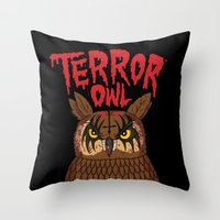 Terror Owl Throw Pillow