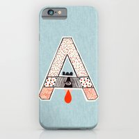 "iPhone & iPod Case featuring a to z - ""A"" by cardboardcities"