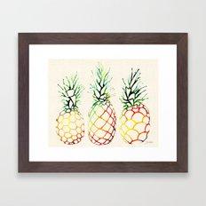 Burlap Pineapples Framed Art Print