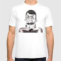 the tattooed man Mens Fitted Tee White SMALL