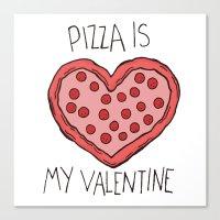 Valentine Pizza Canvas Print