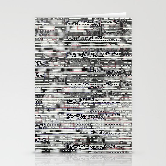 Removing Filters (P/D3 Glitch Collage Studies) Stationery Card