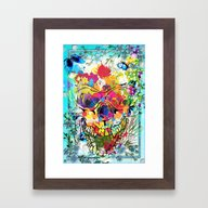 Skull Botonical Framed Art Print