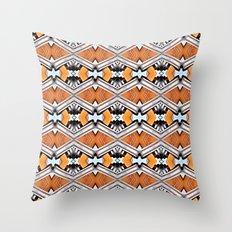 Orange and Neon Throw Pillow