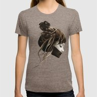 This City Womens Fitted Tee Tri-Coffee SMALL