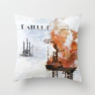Throw Pillow featuring F Is For Failure by Kendra Keefer-McGee