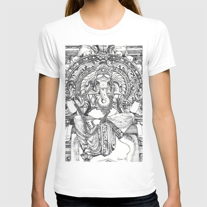 Line Drawing T Shirt : Genish black and white line drawing t shirt by anna rachel
